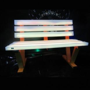 نیمکت مدل الوار نورانی طول 150 سانتیمتر