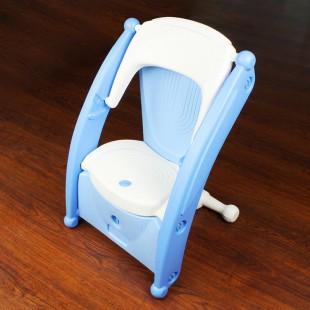 صندلی کودک چندکاره آبی نوباوه