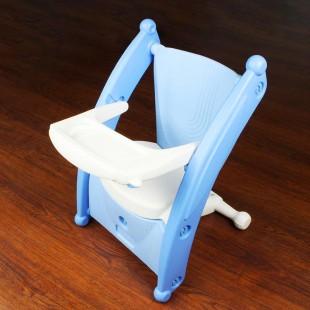 صندلی کودک چندکاره آبی nowbaweh