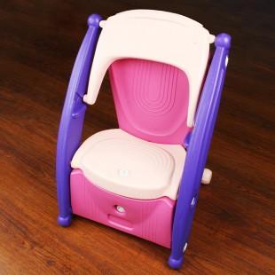 صندلی کودک چندکاره صورتی nowbaweh
