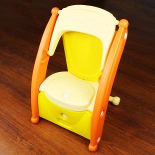 صندلی کودک چندکاره زرد nowbaweh