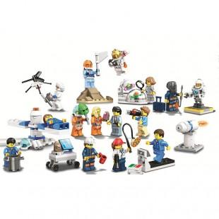 آدمک لگو برند LARY مدل cities کد 11384- لگو بازی کودکان مدل فضانوردان و یوفو ها