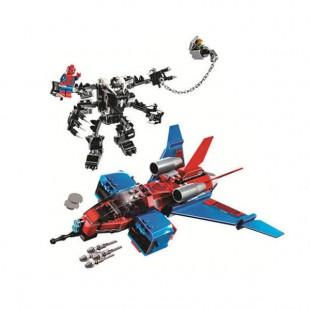 لگو بازی LARY مدل spider hero کد 11500-لگو مرد عنکبوتی و سفینه