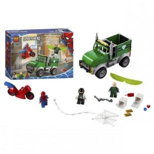 لگو بازی LARY مدل spider hero کد 11497-لگو مرد عنکبوتی موتورسوار