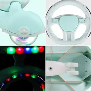 سه چرخه کودک پلاسماکار 2021 بدنه نورانی چرخ ژله ای و چراغدار plasmacar