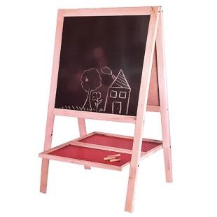 تخته نقاشی کودک چوبی دو طرفه PALIZAN