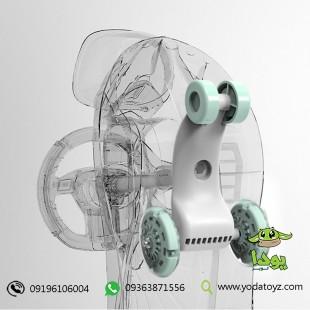 سه چرخه کودک پلاسماکار طرح جدید چرخ ژله ای و چراغدار سبد دار  plasmacar