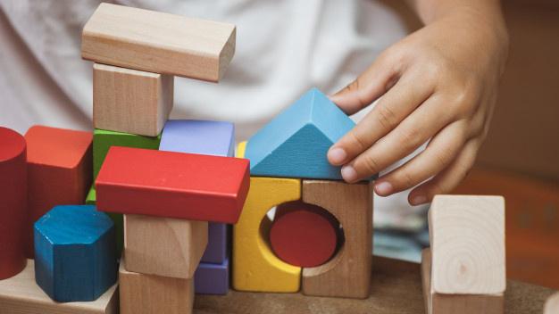 اسباب بازی بلوک رنگی چوبی
