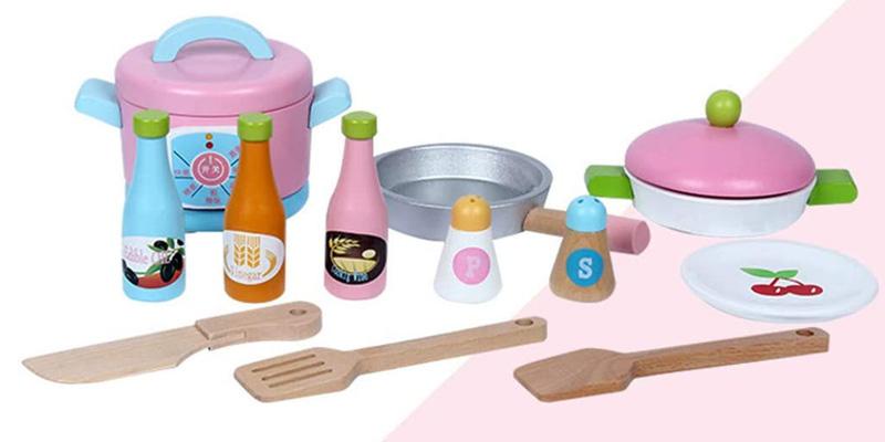 ست آشپزخانه اسباب بازی چوبی