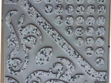 موزائیک ویبره ای 40/40 ترمه سنگ سفید و مشکی