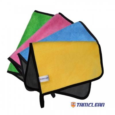 دستمال میکروفایبر نظافت خودرو تام کلین مدل TC-MFL450A بسته ی 4 عددی