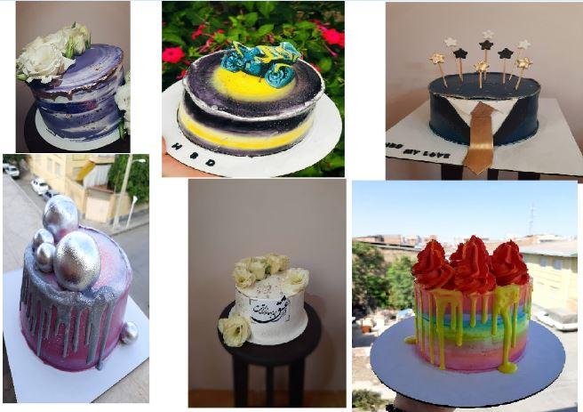 پخت کیک تولد در تنور مبتکر