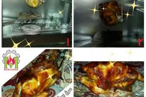 پخت مرغ بریان در تنور مبتکر