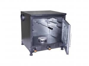 تنور سرآشپز رنگی کوره ای (2سینی) ورق ضخیم سفارشی با موتور جوجه گردان+TG128 PLUS