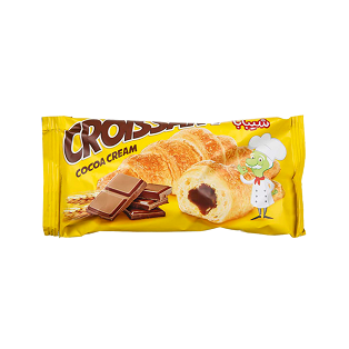نان کروسان با مغز کرم کاکائو 50 گرم شیبابا