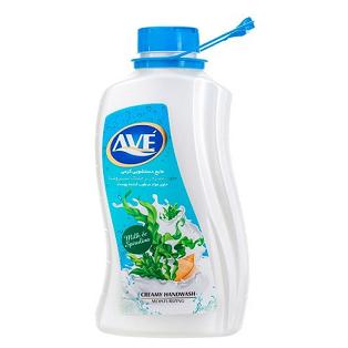 مایع دستشویی کرمی اوه مدل شیر و جلبک حجم 2 لیتر