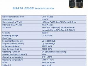 اس اس دی LEFOR MSATA 256gb LFR-M1256