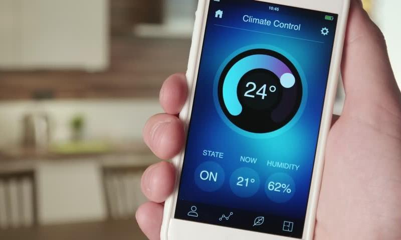 کنترل دمای منزل با موبایل