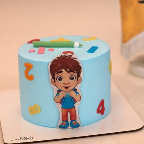 کیک خامه  - فوندانت پسرانه