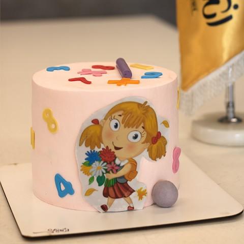 کیک خامه  - فوندانت دخترانه