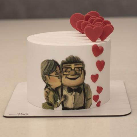 کیک خامه فوندانت کد 18