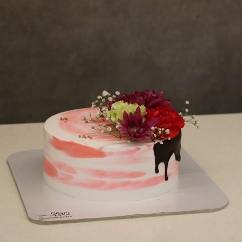 کیک گل طبیعی