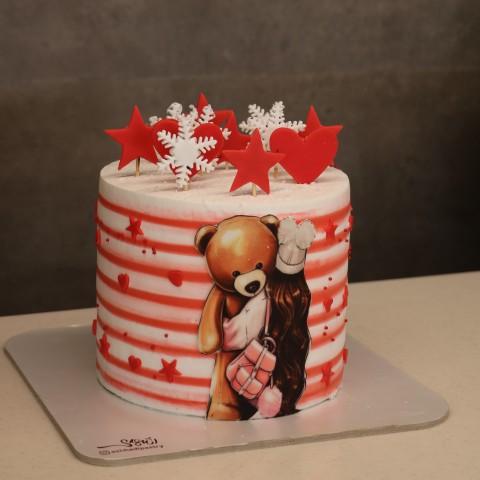 کیک دخترانه برفی