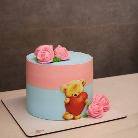 کیک فانتزی خامه ای کد 50