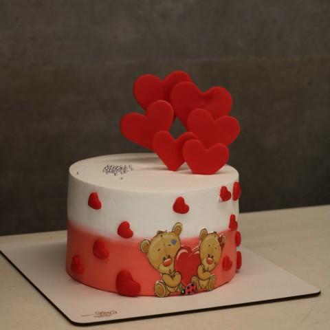 کیک خرسی عاشقانه