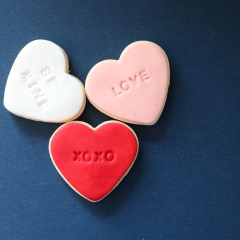 کوکی سه تایی قلب