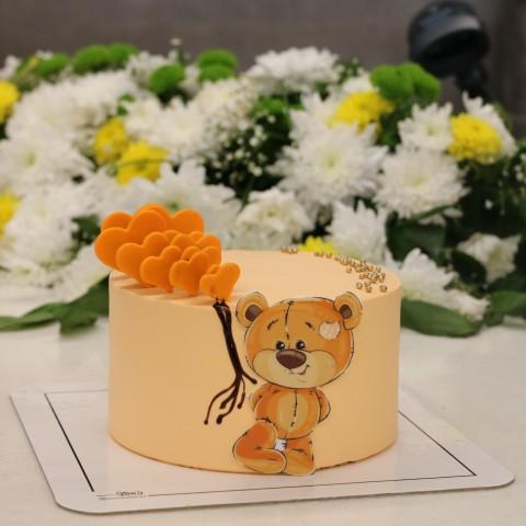 کیک خرس تصویری
