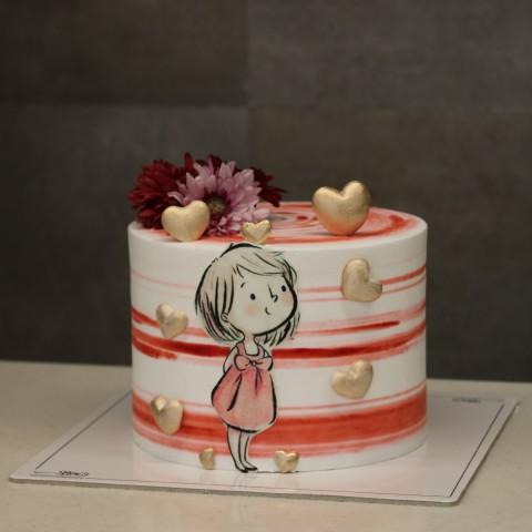 کیک دخترانه کد یک