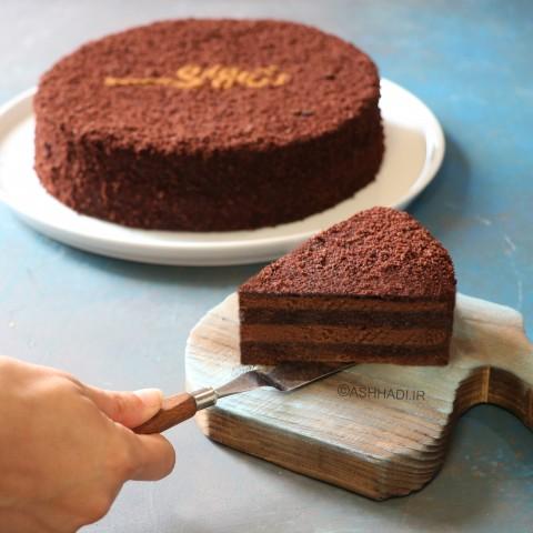 کیک شکلاتی ویژه اشهدی