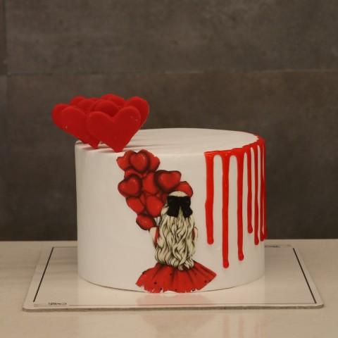 کیک دخترانه کد سه