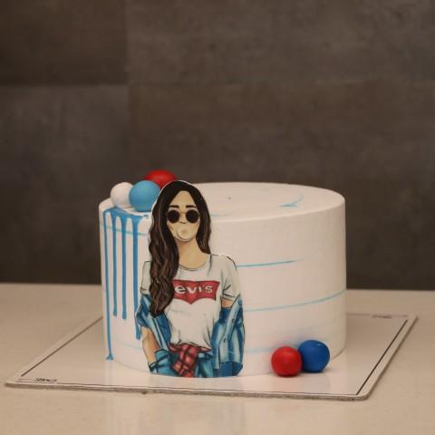 کیک دخترانه کد چهار