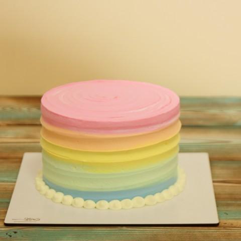 کیک رنگی موجی