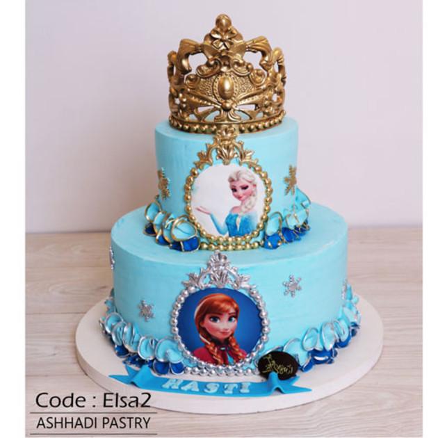 کیک خامه ای کد Elsa-(2)
