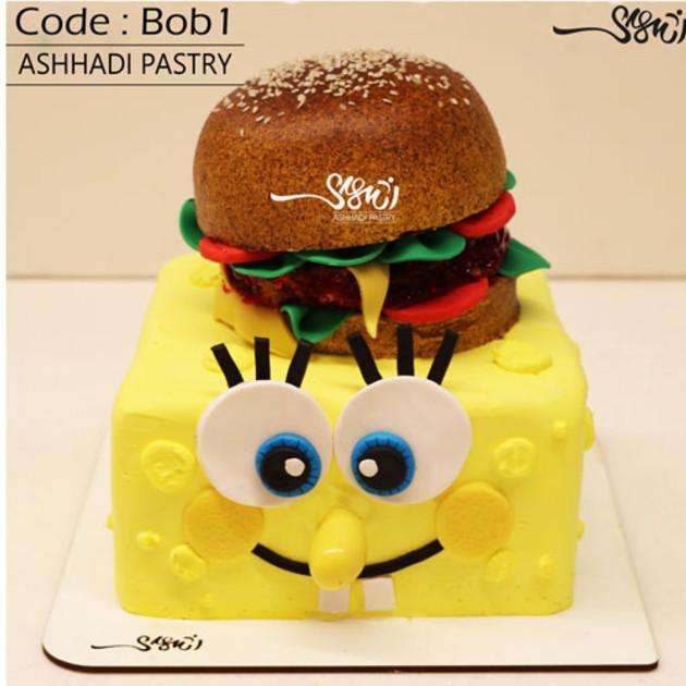 کیک باب اسفنجی کدBob-(1)