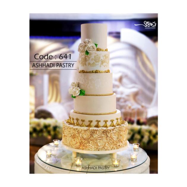 کیک عروسی کد 641