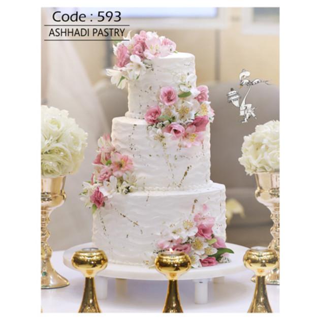 کیک عروسی کد 593