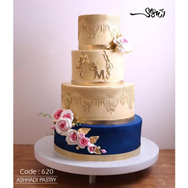 کیک عروسی کد 620