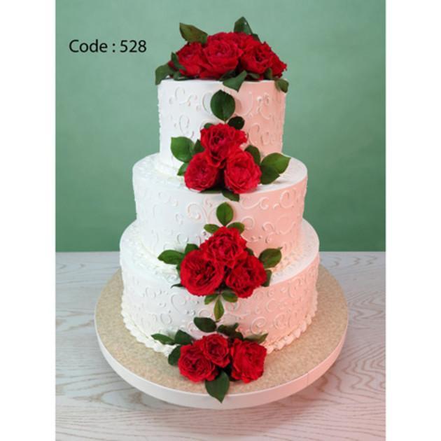 کیک عروسی کد 528