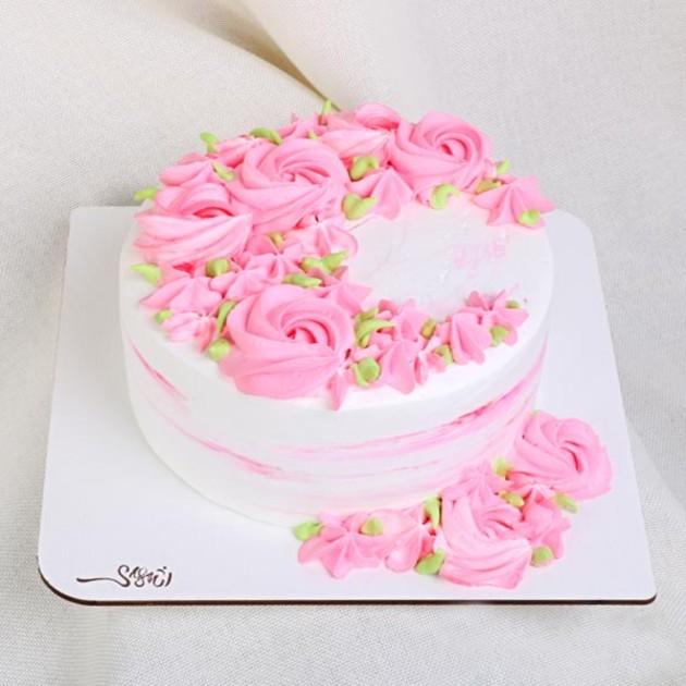 کیک خامه ای کد46