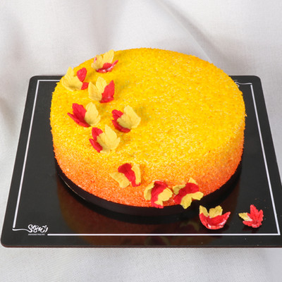 کیک خامه طرح پاییزی