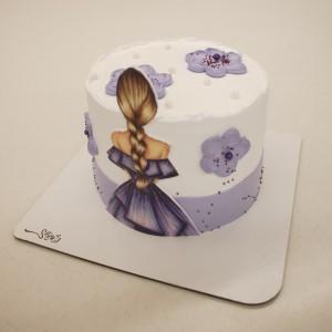 کیک خامه فوندانت دندونی