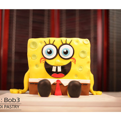 کیک باب اسفنجی کدBob-(3)