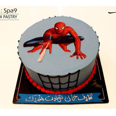 کیک اسپایدرمن کدSpa-(9)