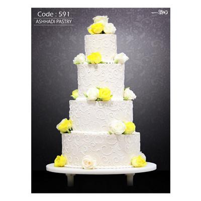 کیک عروسی کد 591