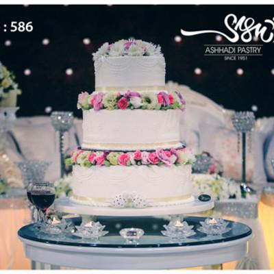 کیک عروسی کد 586