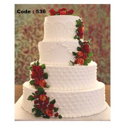 کیک عروسی کد 536